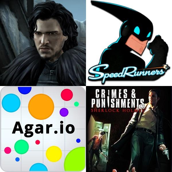 Player Too: Episode 4 – Game of Thrones, Speed Runners, Agar.io & Sherlock Holmes